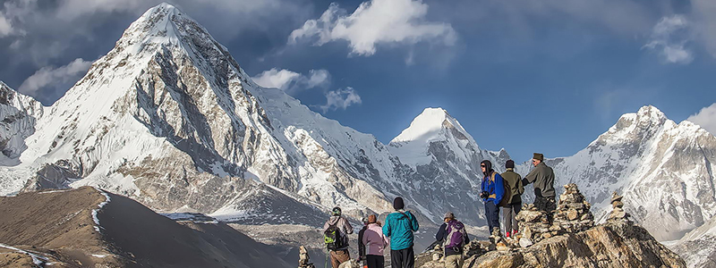 trekkers in Nepal After Quake
